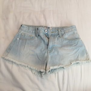 Simple light denim shorts