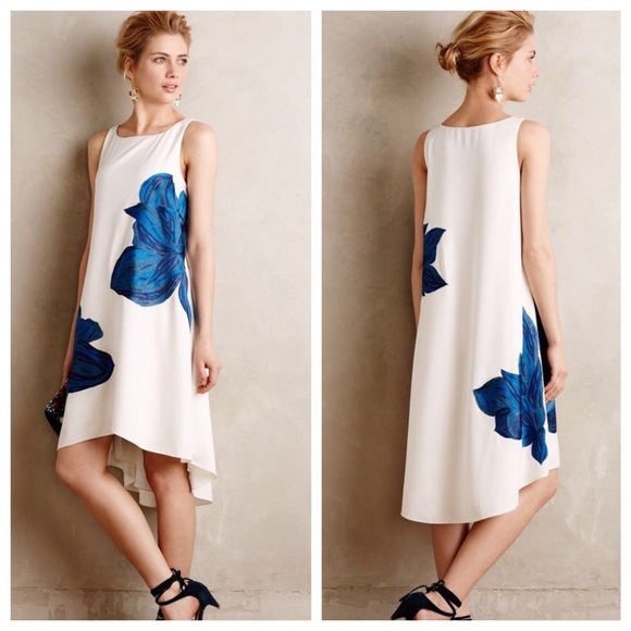 Anthropologie   Embroidered Bluebell Dress NWOT