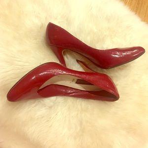Steven by Steve Madden Shoes - Steve Madden Plennty red patent leather pumps