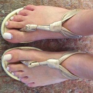 Elaine Turner Shoes - Elaine turner gold cork sandals