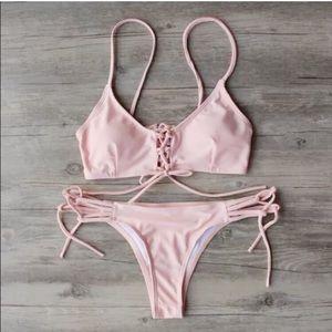 Pink strappy bikini NWOT