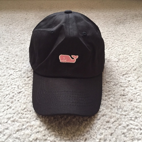 e6196e25932 black vineyard vines hat pink whale baseball cap