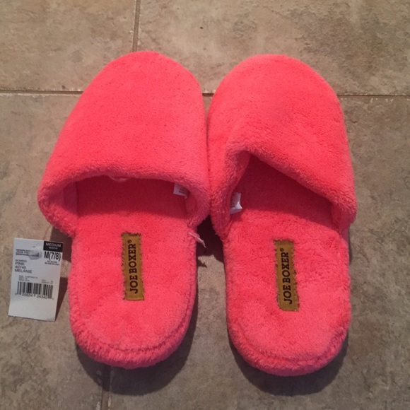 ef60322d5e1 Hot Pink Slippers. NWT. Joe Boxer
