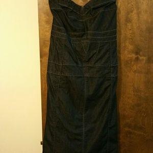 Ashley Stewart Dresses - Ashley Stewart Denim Seamed Bustier Dress 22