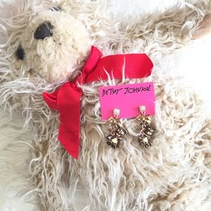 Betsey Johnson Jewelry - 🎀 Betsey Johnson Bows & Bears Dangle Earrings