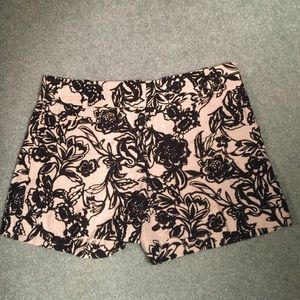 Floral Printed Twill Shorts by Loft