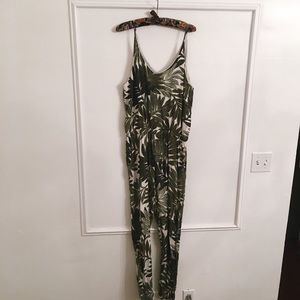 42f105011a4 Topshop Pants - TALL Palm Leaf Print Strappy Jumpsuit - Topshop