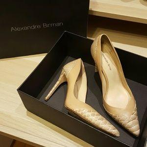 Alexandre Birman Shoes - Python & Leather Pointed-Toe Pump