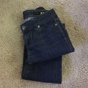 X2 w10 Boot cut mid rise dark blue jeans