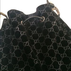 Gucci monogram bucket bag made in Italy