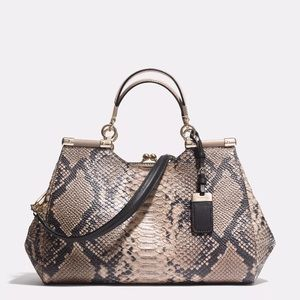 eafffa1b0da Coach Bags   Madison Carrie In Python Embossed Leather   Poshmark