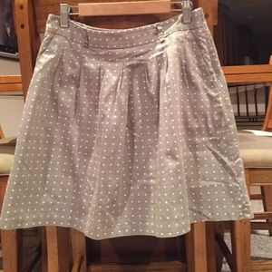 The Limited Polka Dot Skirt with Pockets