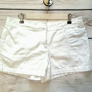 New York & Company Pants - NY & Co White linen/cotton shorts. Size 8.