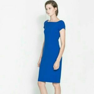 Zara Dresses & Skirts - Zara Cobalt Blue Bateau Neck Dress