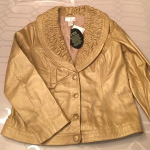 Gold Spiegel Leather Jacket