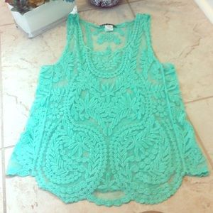 🔆BOGO SALE🔆 Mint crochet top