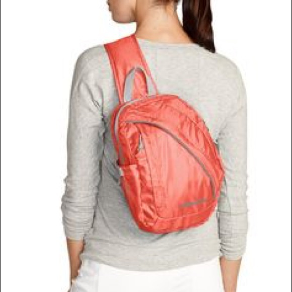 57% off Eddie Bauer Handbags - Eddie Bauer Stowaway packable sling ...