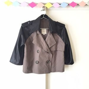 Mason by Michelle Mason Jackets & Blazers - ♥️♥️♥️ Mason Lambskin Grey Crop Trench Coat
