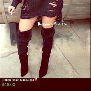 Custom Dresses & Skirts - Broken Holes Mini Dress❤️