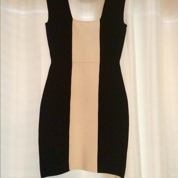 Bcbg black and white bandage dress