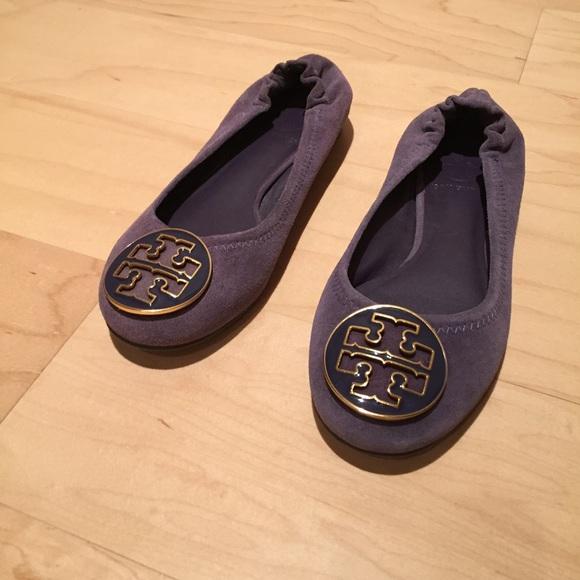b9588484e Tory Burch  Reva  Ballerina Flats (Purple Suede). M 577f372313302a5143011fb8