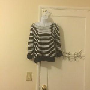 Beautiful black and white striped sweater