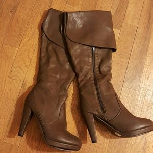 Shoes - *SOLD* Brown knee high boots