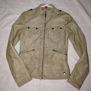 Bernardo Jackets & Blazers - Faux Leather Jacket Beige XS