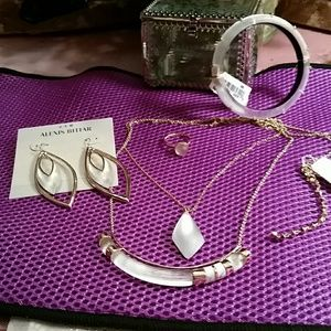 Alexis Bittar Jewelry - Alexis Bittar NWT  silver lucite set