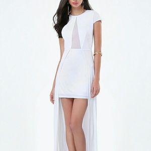 Bebe white maxi dress