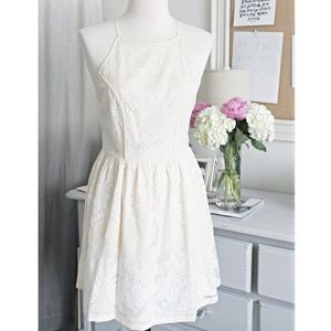 Cream Embroidered Summer Dress