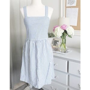 Preppy/Nautical Striped Midi Dress