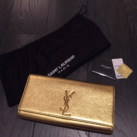 cd07e6368924e Yves Saint Laurent Bags | Ysl Cassandre Clutch In Gold | Poshmark