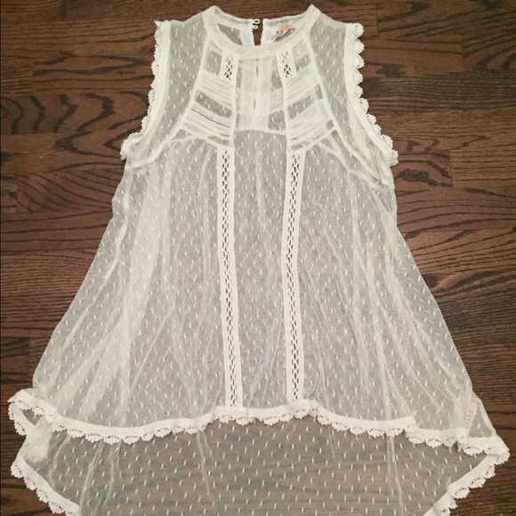a6a2451e1cd154 Free People Tops - Free People -Cream Lace