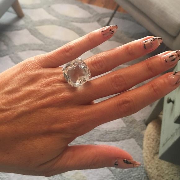 822effb70cf0d Swarovski large crystal cocktail ring