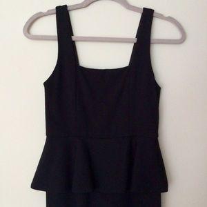 Alice + Olivia Black Peplum Dress (size 0)
