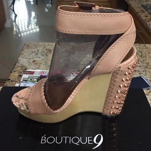 Boutique 9 Shoes - Boutique 9 blush / rose gold wedges
