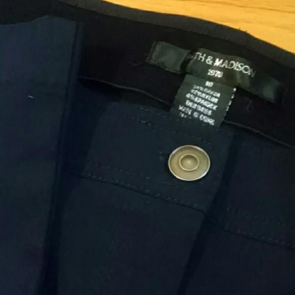 f2cafdaee0d9d 89th   Madison Pants - Solid Dark Blue Capris