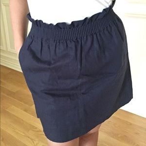 J. Crew Navy Blue Skirt w/ Pockets Size 4