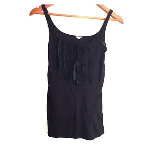 J crew Perfect Fit Tuxedo Ruffle Panel Tank