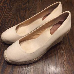 J. Crew wedge heels.