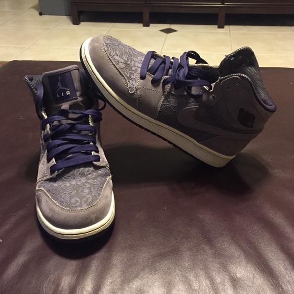 Nike Air Jordan Retro 1 purple lace and suede