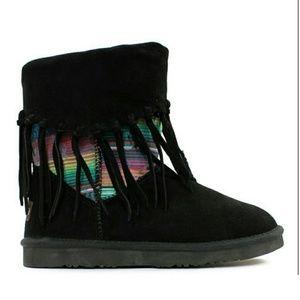 Lamo Shoes - Black Peru Suede Boot
