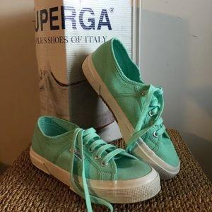 Superga Low Top Mint Sneakers