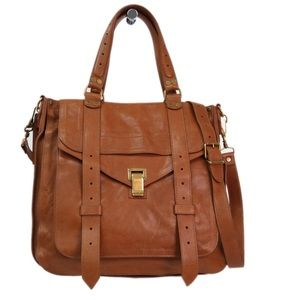 Proenza Schouler PS1 Brown Leather Tote Satchel