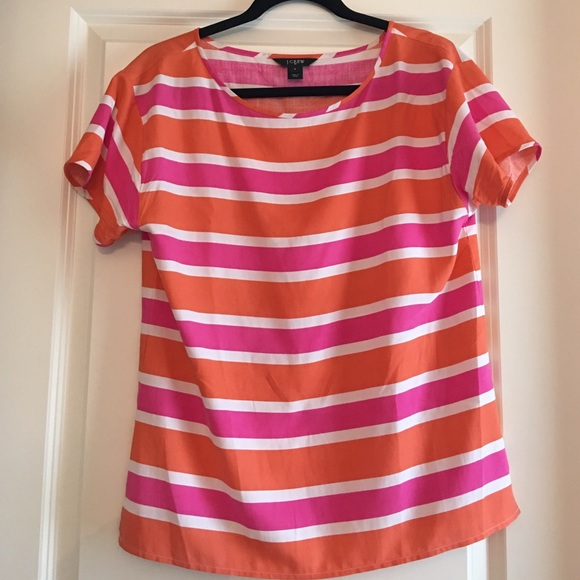 J. Crew Tops - J. Crew Striped Boat Neck Shirt Size S