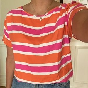 J. Crew Striped Boat Neck Shirt Size S
