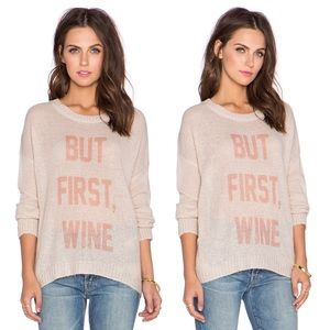 The Laundry Room Sweaters - BUT FIRST, WINE BEACH SWEATER THE LAUNDRY ROOM