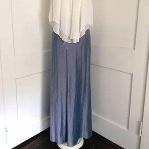 Margaret O'Leary Dresses & Skirts - Margaret OLeary blue silk maxi Medusa skirt P XS