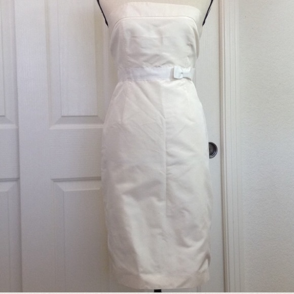 J. Crew Dresses & Skirts - J. Crew Dress Strapless Ivory Summer 100% Silk